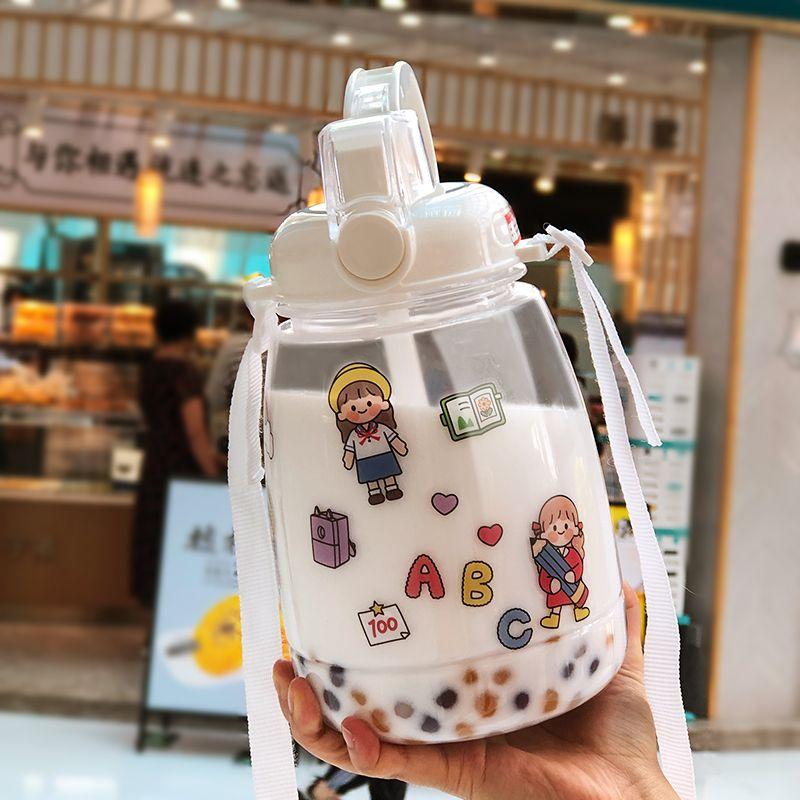 水杯女大容量塑料吸管直饮两用运动水壶瓶夏季便携高颜值太空杯子