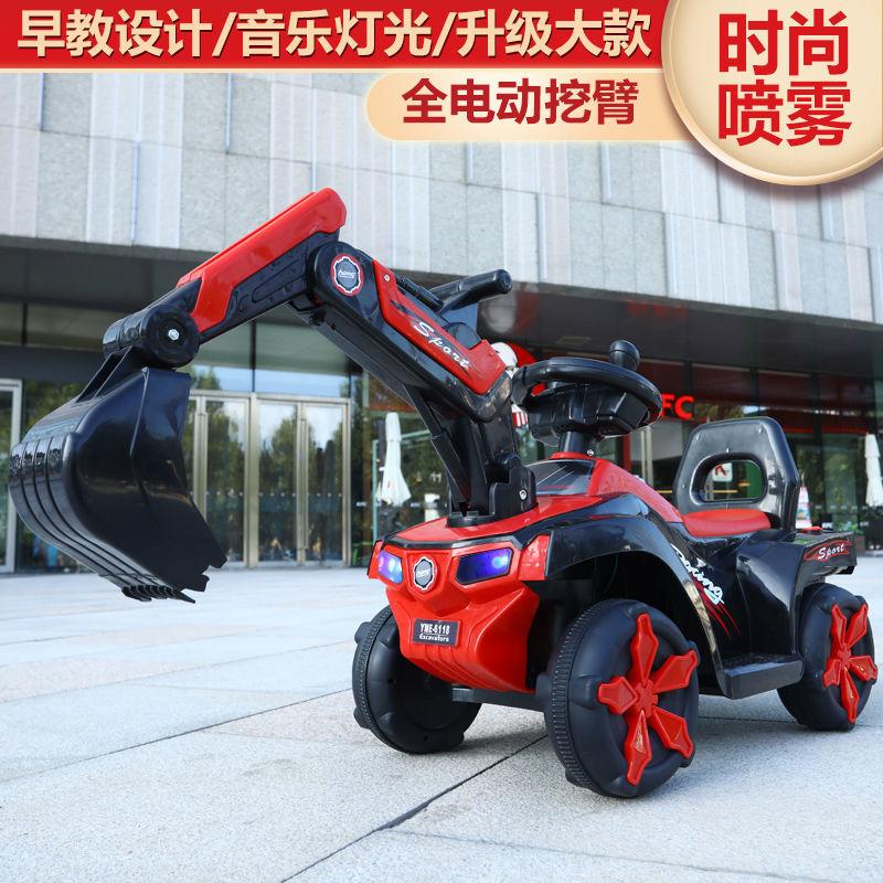 儿童电动挖掘机大号可坐可骑挖土机玩具工程车男孩女孩充电滑行车主图8