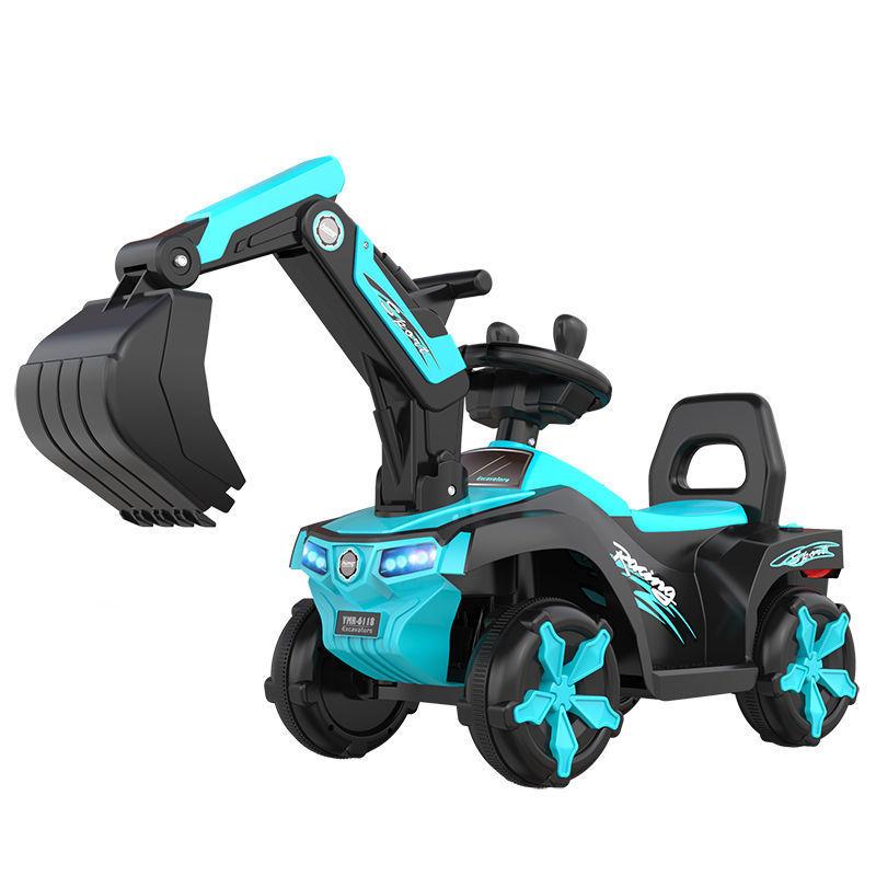 儿童电动挖掘机大号可坐可骑挖土机玩具工程车男孩女孩充电滑行车主图9