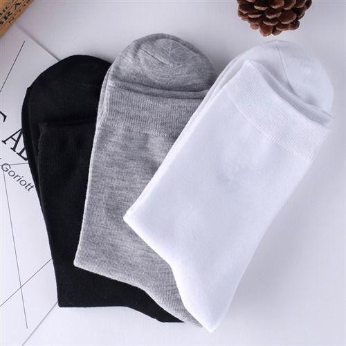 四季棉袜男女纯色袜子长袜子商务男士袜子不臭脚XZ105B-WZ