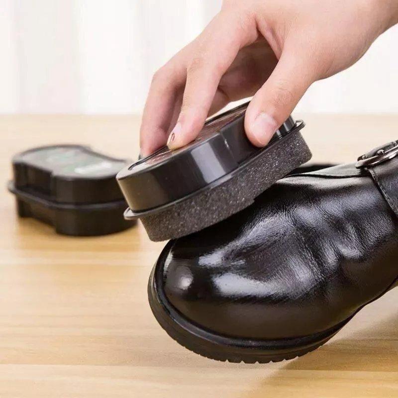 一擦即亮【1-10个装】+【补充油】无色鞋蜡鞋擦鞋刷鞋油擦鞋海绵