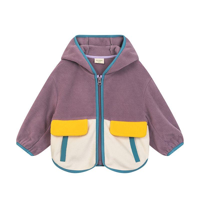 75769-马拉丁童装男女中大童卫衣外套2021秋装新款双面摇粒绒拼色外套-详情图