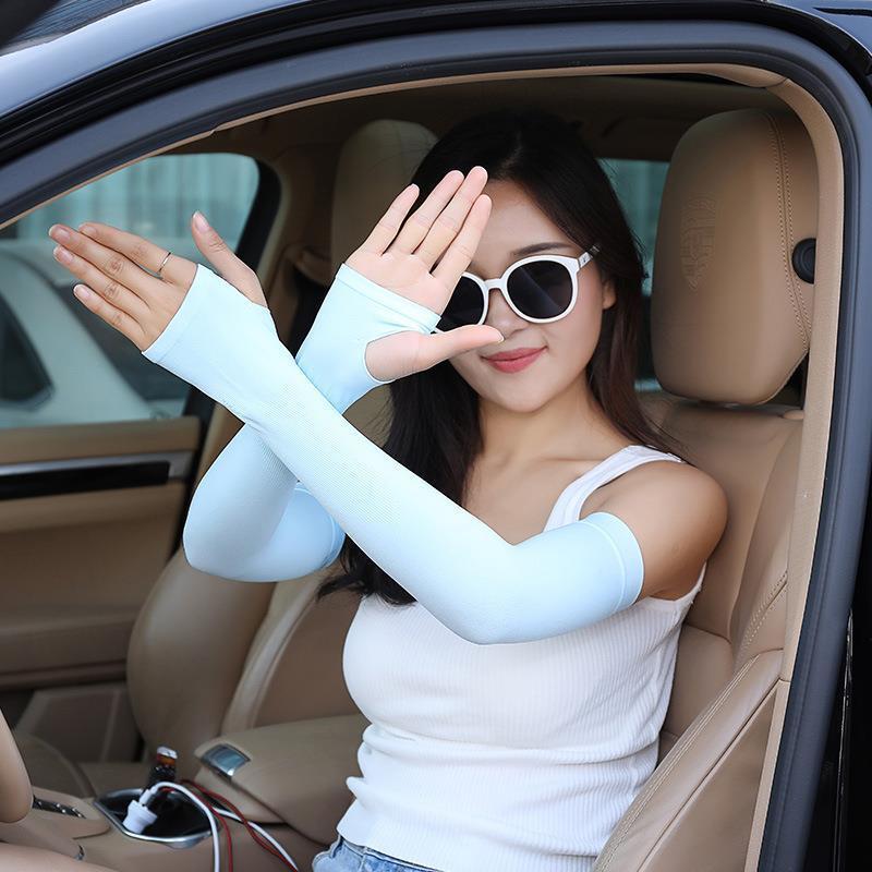 防晒手套女夏季防紫外线冰丝透气薄款露指骑行开车电动车骑手触屏