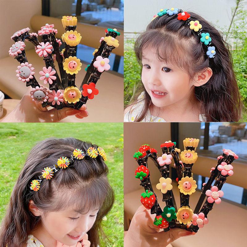韩国儿童发饰女童压发头箍可爱宝宝碎发发箍编发夹子发卡不头饰