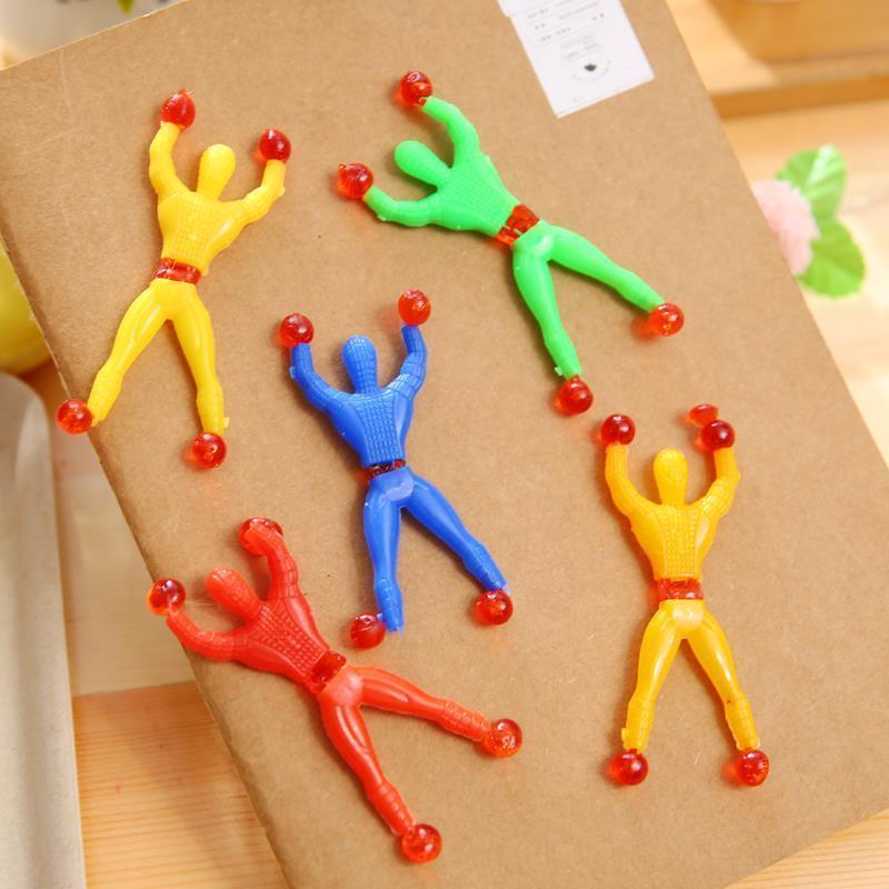 神奇翻跟斗爬墙蜘蛛人儿童玩具地摊爬璧人攀岩小人好玩的
