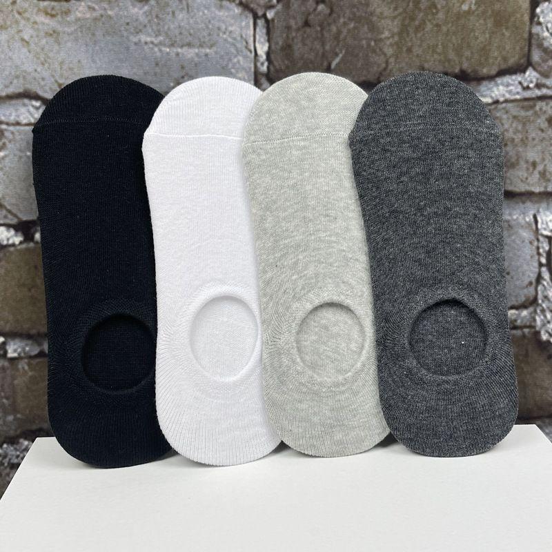 全棉袜子男士隐形船袜春夏季浅口纯棉脚底短袜低帮薄独立包装