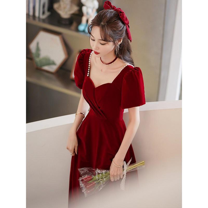 75674-敬酒服新娘2021新款小个子结婚订婚回门晚礼服裙女平时可穿长款-详情图
