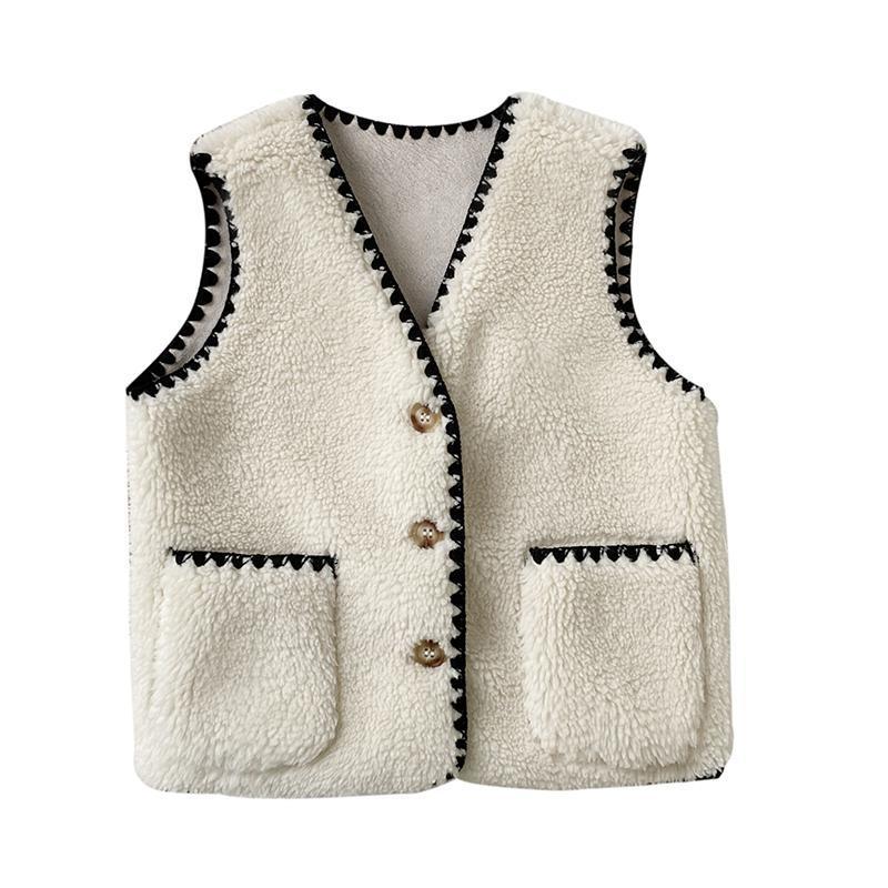 88596-女童马甲2021春秋新款羊羔毛坎肩外穿小女孩儿童秋冬季加棉背心潮-详情图