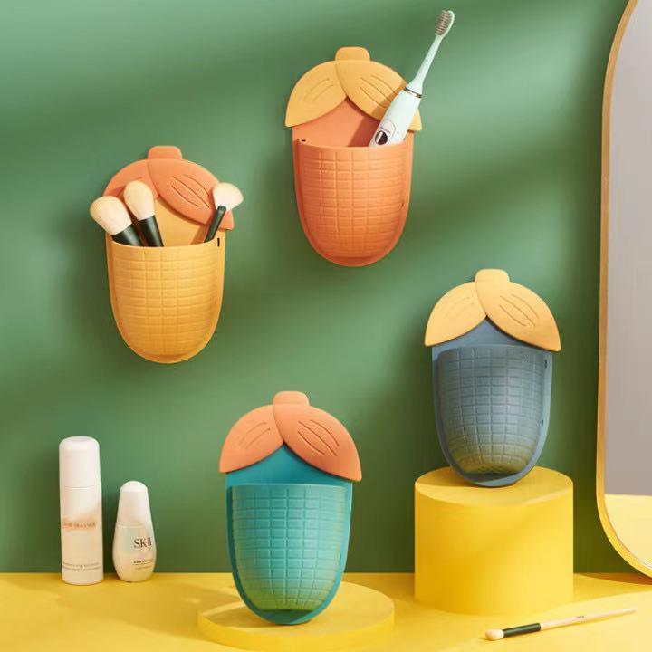 【瑷 琳】免打孔浴室洗漱台梳子牙膏筒收纳筒