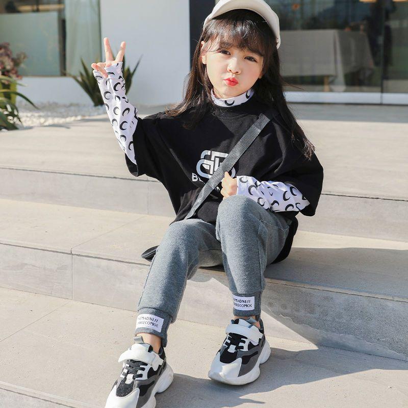 75892-女童运动裤儿童休闲裤韩版潮流新款秋冬季洋气男童高腰百搭束脚裤-详情图