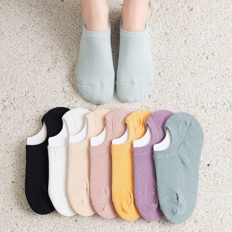 新疆棉袜子日系女袜2021夏季薄款浅口提耳短袜网眼船袜防滑隐形袜