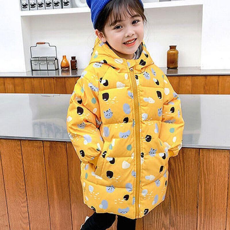巴拉bala男童女童宝宝服中长款加厚小童儿童冬季韩版卡通外套