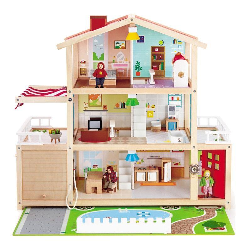 Hape我的豪华别墅过家家儿童宝宝小房子玩具小屋娃娃屋公主女